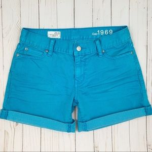 Gap Sexy Boyfriend Jean Shorts Surf Pipe Blue